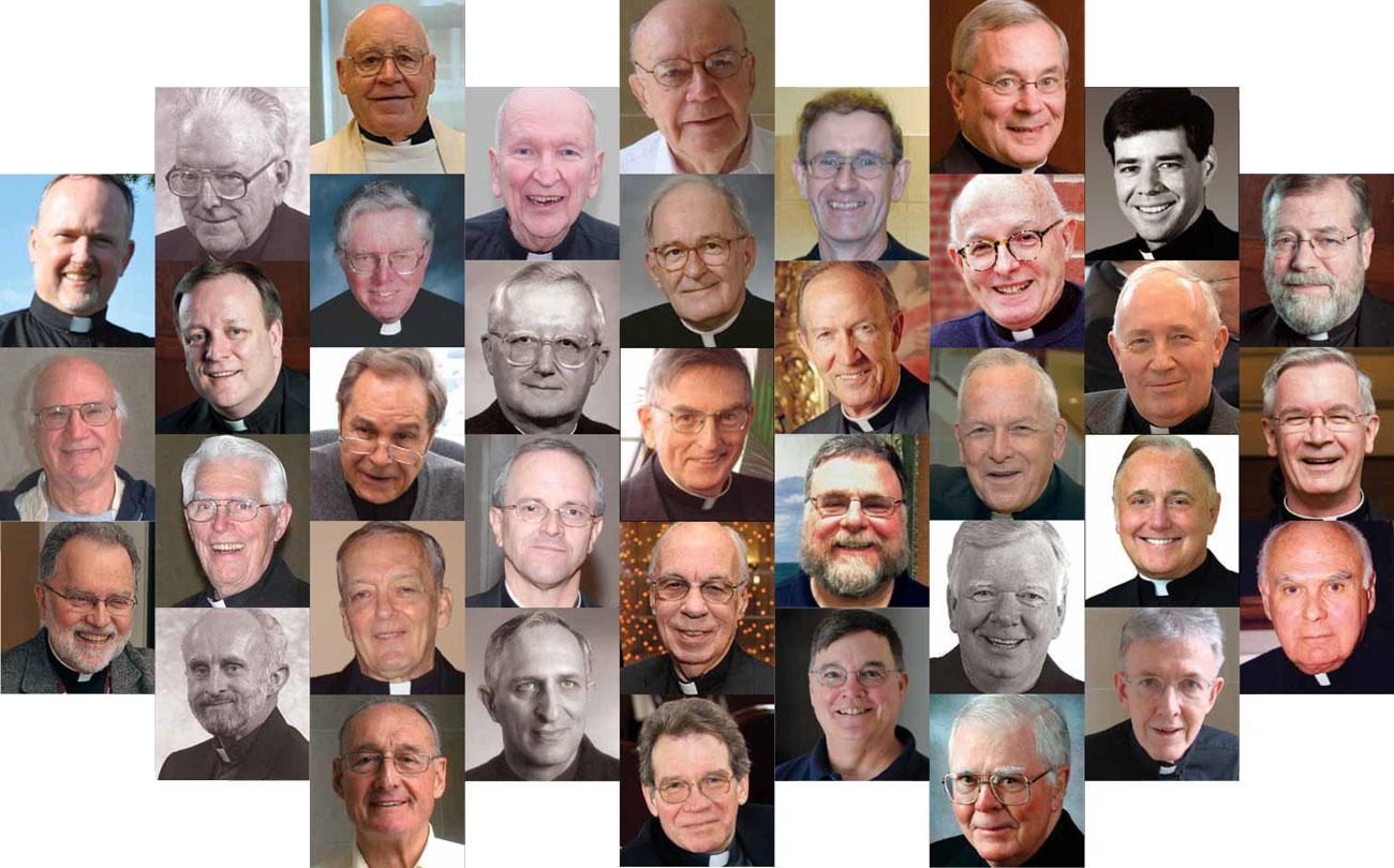 Collage of 2012 Jesuit Jubilarians