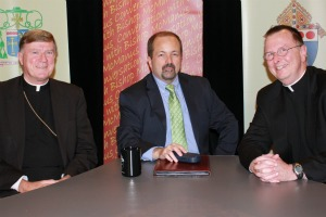 Bishop McManus, Ray Delisle and Provincial Fr. Sheehan