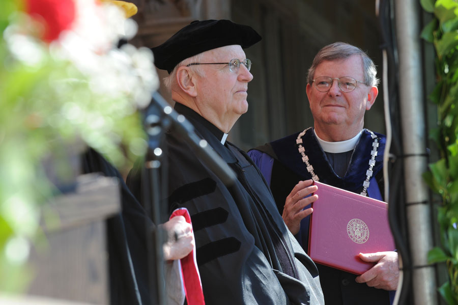 Fr. Richard Clifford, SJ, receives an honorary degree at Fairfield University, 2012.