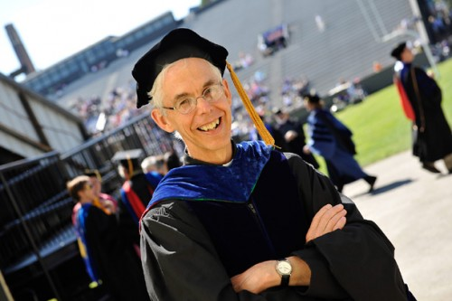 Fr. Michael McFarland, SJ, received an honorary degree from College of the Holy Cross where he previously served as university President on May 25, 2012.